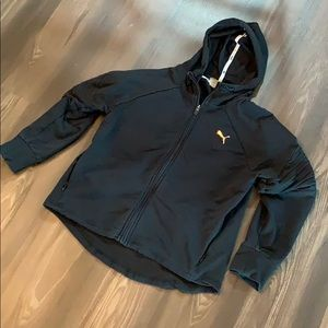 Puma zip up hoodie jacket rose gold